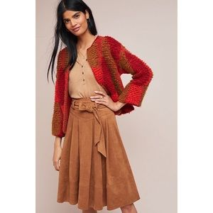 Anthropologie Faux Suede A Line Skirt Akeni + Kin